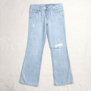 SEVEN JEANS Bootcut Light Wash Distressed